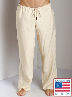Sauvage 100% Laundered Linen Tropical Pant Natural