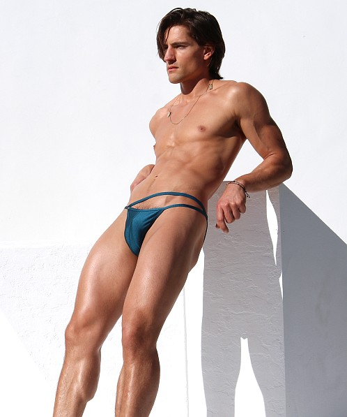 Rufskin Croisette Double Strap Swim Brief Petrol