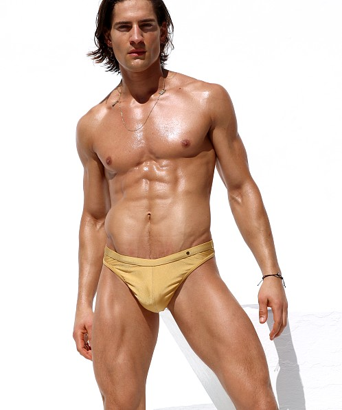 Rufskin Dorado Swim Thong Gold