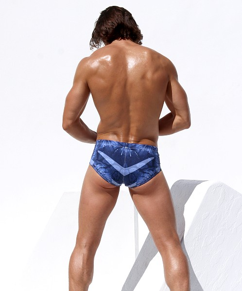 Rufskin Dungle Swim Brief Vintage Hawaii