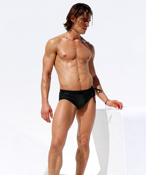 Rufskin Grille Mesh Swim Brief Black