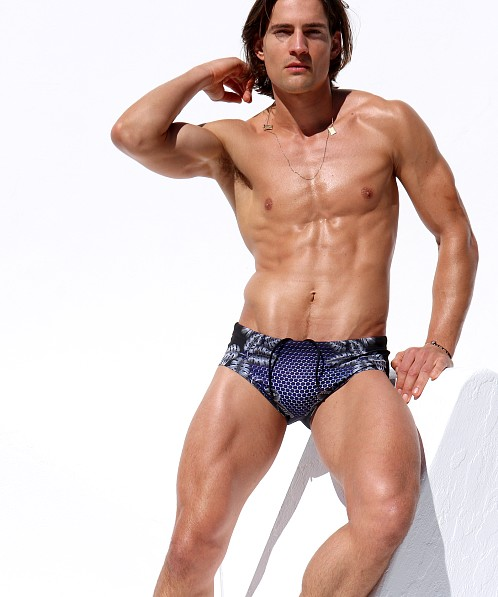 Rufskin Lono Mini Sunga Swim Trunk Carbon Jungle
