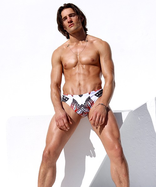 Rufskin Cheeky Puka Swim Brief Symmetry Print