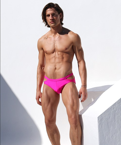 Rufskin Topaze Cut-Out Swim Brief Hot Pink