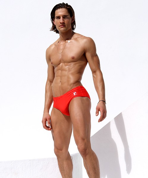 Rufskin Wave Swim Brief Vermilion