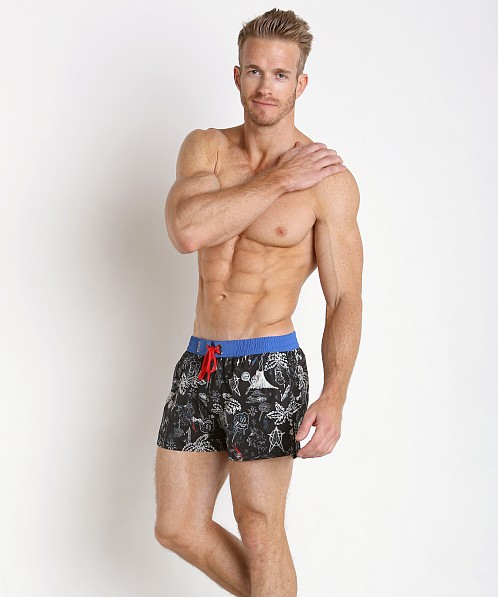 66e4b9f435746 Diesel Sandy-E Photoprinted Swim Shorts Black 00SMNJ-0BAMH-03 at  International Jock