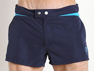 Diesel Iconic V Design Sandy Swim Shorts Navy/Turquoise