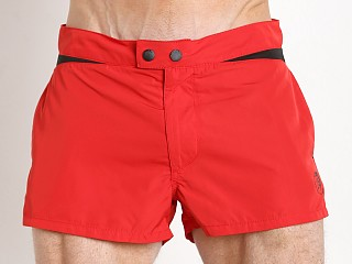 Diesel Iconic V Design Sandy Swim Shorts Red/Black