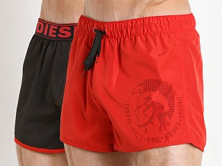 Diesel Sandy Reversible Swim Shorts Red/Black