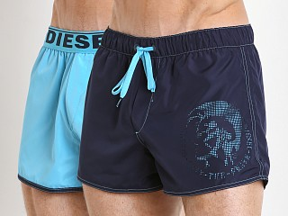 Diesel Sandy Reversible Swim Shorts Aqua/Navy