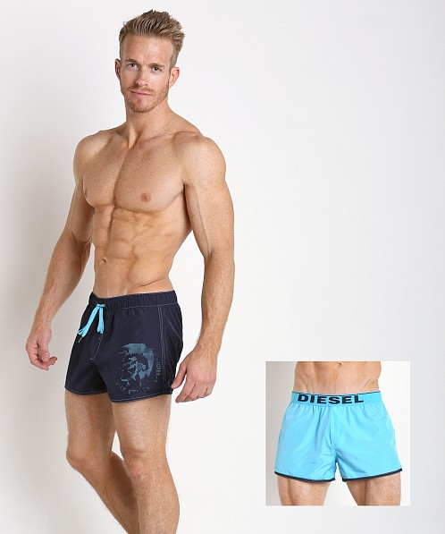 6c4ced68ba76b Diesel Sandy Reversible Swim Shorts Aqua/Navy 00SP84-0DALV-03 at  International Jock