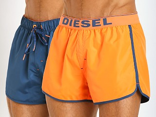 Diesel Revy Reversible Swim Shorts Orange