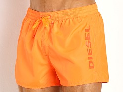 Diesel Coralred Logo Swim Shorts Orange