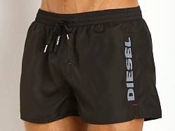 Diesel Coralred Logo Swim Shorts Black