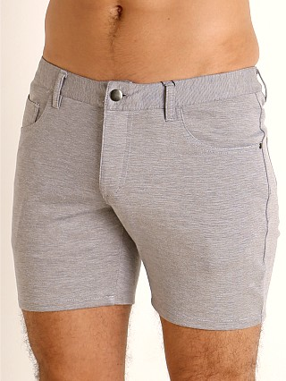 St33le Knit Jeans Shorts Dove Grey
