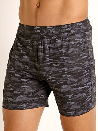 St33le Printed Stretch Mesh Performance Shorts Black/Grey Pixel