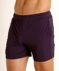 St33le Stretch Mesh Performance Shorts Aubergine, view 3