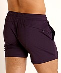St33le Stretch Mesh Performance Shorts Aubergine, view 4