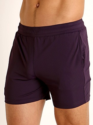 St33le Stretch Mesh Performance Shorts Aubergine