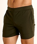 St33le Stretch Mesh Performance Shorts Olive, view 3