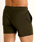 St33le Stretch Mesh Performance Shorts Olive, view 4