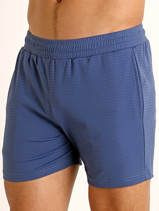 St33le Stretch Mesh Performance Shorts Pacific Blue