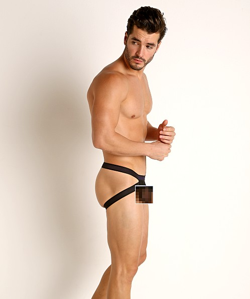 Jack Adams Sheer Push Up Jockstrap Black