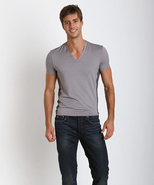 Hugo Boss Cool Cotton V-Neck Shirt Grey