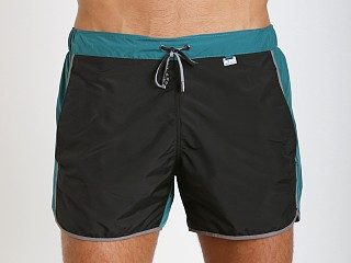 Hugo Boss Snapper Swim Shorts Black & Teal