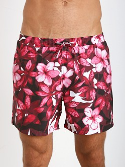 Hugo Boss Piranha Swim Shorts Burgundy