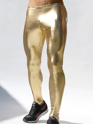 Rufskin Karl Metallic Stretch Leggings Gold/Silver