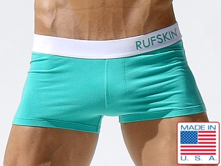 Rufskin Palm Cotton Spandex Square Cut Trunk Mint