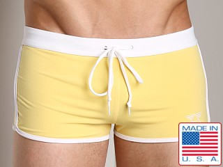 LASC Striped Pool Boy Square Cut Yellow