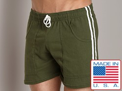 LASC Yoga Striped Yoga Short Army