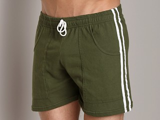 Complete the look: LASC Striped Yoga Short Army