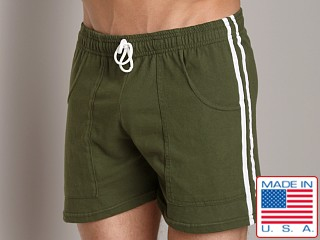 LASC Striped Yoga Short Army