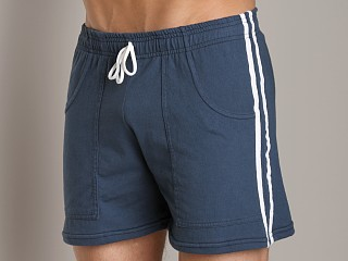 Complete the look: LASC Striped Yoga Short Navy