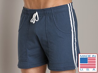 LASC Yoga Striped Yoga Short Navy