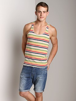 LASC Stripe String Tank Top Oatmeal/Navy