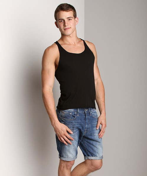 LASC Sixties String Tank Top Black