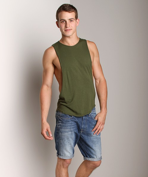 LASC Deep Cut Out Tee Army