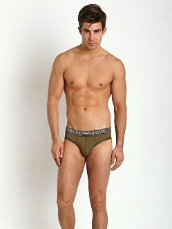 Emporio Armani Camouflage Piping Brief Army