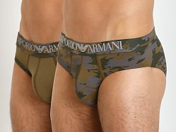 Emporio Armani Camouflage 2-Pack Brief Army