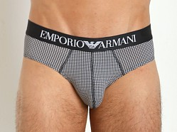 Emporio Armani Printed Fantasy Stretch Cotton Brief Hounds Tooth