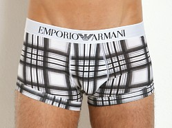 Emporio Armani Printed Fantasy Stretch Cotton Trunk Checker