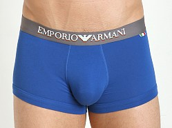Emporio Armani Italian Flag Stretch Cotton Trunk Blue