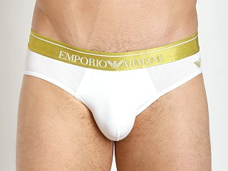 Emporio Armani Logo Stretch Cotton Brief White