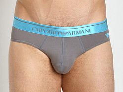 Emporio Armani Logo Stretch Cotton Brief Ash Grey