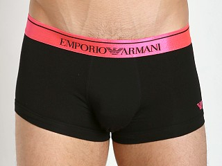 Emporio Armani Logo Stretch Cotton Trunk Black