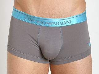 Emporio Armani Logo Stretch Cotton Trunk Ash Grey